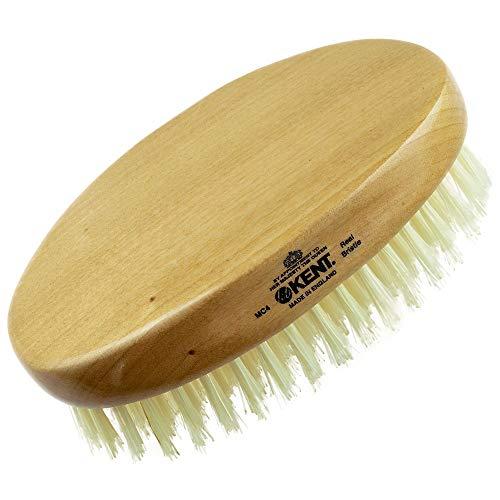 Kent MC4 Finest Men's Hair Brush And Facial Brush For Beard Care - Exfoliating Natural Boar Bristle Brush For Mens Grooming, Scalp Brush, Royalty Brush, And Beard Straightener For Men's Skin Care
