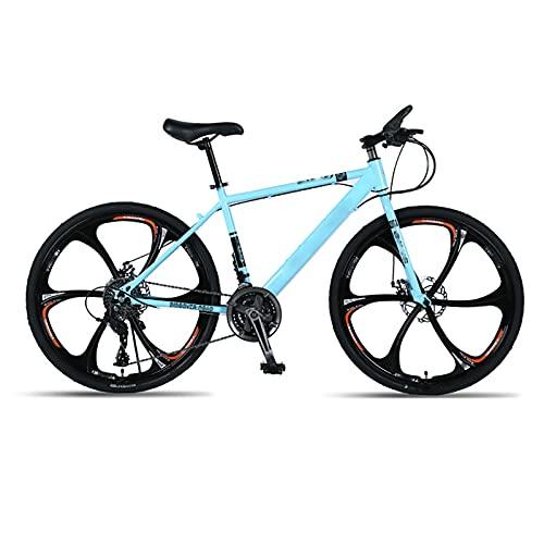 BMDHA MTB,Bicicleta De montaha Rueda De Seis Cuchillas 24 Pulgadas,Bicicleta 30 Velocidades Freno De Doble Disco Bicicleta Montana Adulto Resistente Al Desgaste