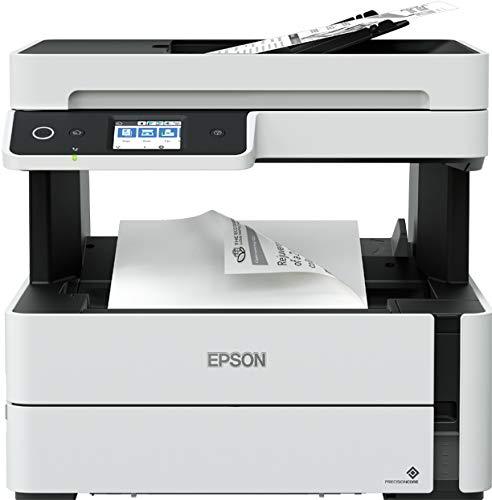 Epson EcoTank ET-M3170 nachfüllbarer 4-in-1-Schwarzweißdrucker (Scanner, Kopierer, Fax, DIN A4, Duplex, ADF, Wi-Fi, Ethernet) großer Tintenbehälter, hohe Reichweite, niedrige Seitenkosten