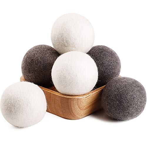 Wool Dryer Balls 6 Pack XL Natural Fabric Softener $5.99 (33% Off)