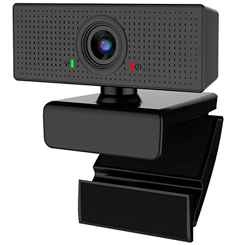 E COASTAL 1080P Webcam, 110 Degrees Extended View USB 2.0 Full HD 1080P Web Camera Pro, 30 Frames FHD Stream Built-in Noise Reducing Mic for PC Laptop Online Conference Windows MacBook (Renewed)