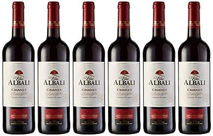 Viña Albali Crianza Tinto D.O. Valdepeñas Vino - Paquete de 6 x 750 ml - Total: 4500 ml