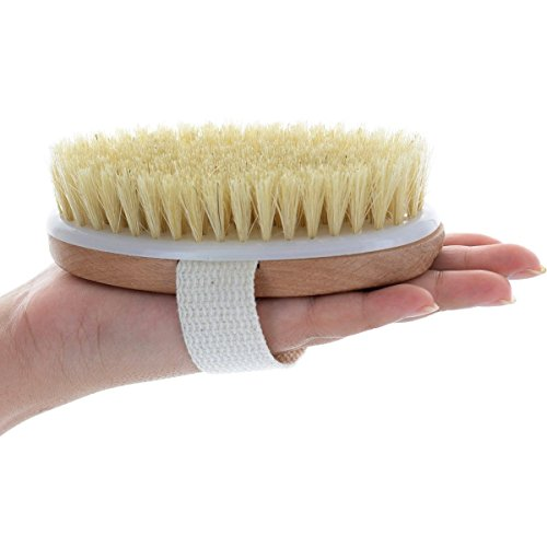 LEORX Piel seca madera cuerpo cepillo con cerdas naturales