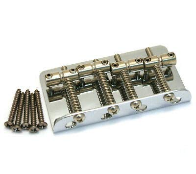 Fender Standard Series Bass Bridge Assembly, Chrome