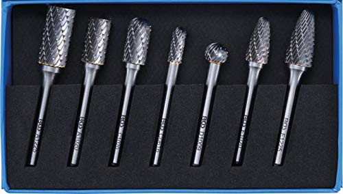BGS 8626 | HSS-Fräser-Satz | 7-tlg | 6 mm Schaft | Frässtift | Raspel | Set | für Bohr- und Fräsmaschinen