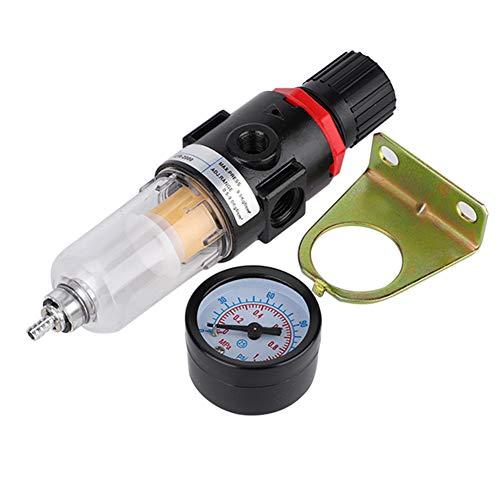 Regulador de filtro de aire duradero y fácil de leer de alta calidad, separador de aceite y agua de aluminio + plástico 0-150PSI, para compresores de aire de herramientas neumáticas
