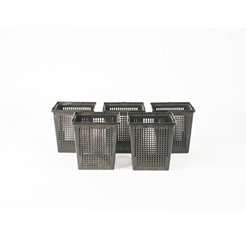 5 Pflanzkörbe Wasserpflanzenkorb 11 x11 cm/für Gartenteich - gut geeignet für Teichplfanzen wie Seerosen/Kunststoff/Teichpflanzen Korb, Gartenteich