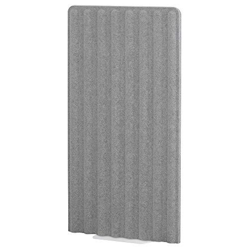 Paravent EILIF, freistehend, 80x150 cm, grau/weiß