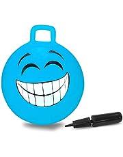 Jamara 460458 Smile springbal, blauw, 450 mm tot 50 kg, bevordert het evenwichtsgevoel en de motorische vaardigheden, robuust en duurzaam, onderhoudsarm.