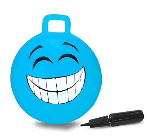 Jamara- Smile Pallone Salto, Colore Blu, 460458