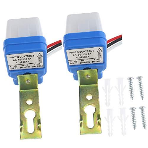 Create idea 2 sensores de luz para interruptor de fotocélula, 230 V