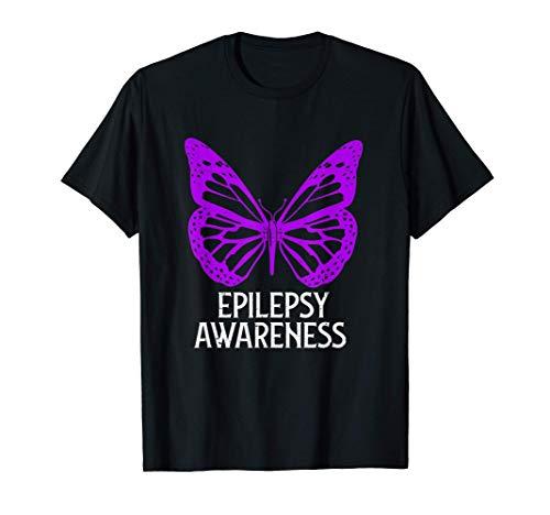 Día de la Conciencia Epilepsia Mariposa Guerrero Epiléptico Camiseta