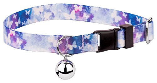 Country Brook Petz - Cat Collar - Animal Collection (Watercolor Butterflies)