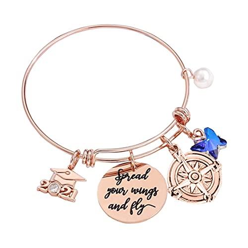 DDyna Temporada de graduación Aleación Ajustable Pulsera Duradera Reloj Simple para Mujer Gfit Accesorios de Vestir románticos para Mujer-Oro Rosa-Diámetro: 6,51 cm