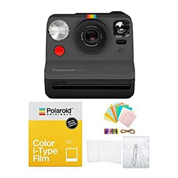 Polaroid Originals Now Viewfinder i-Type Instant Camera  Black  with i-Type Films and Accessory Bundle
