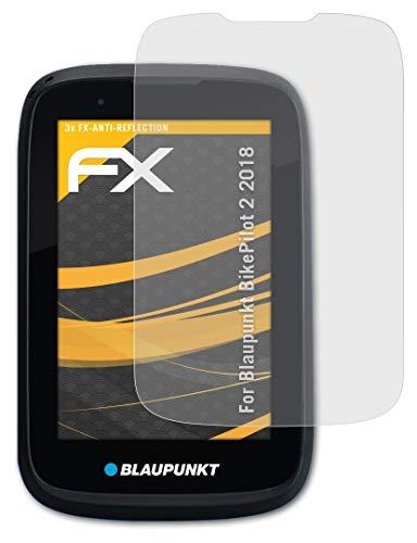 atFoliX Panzerfolie kompatibel mit Blaupunkt BikePilot 2 2018 Schutzfolie, entspiegelnde und stoßdämpfende FX Folie (3X)