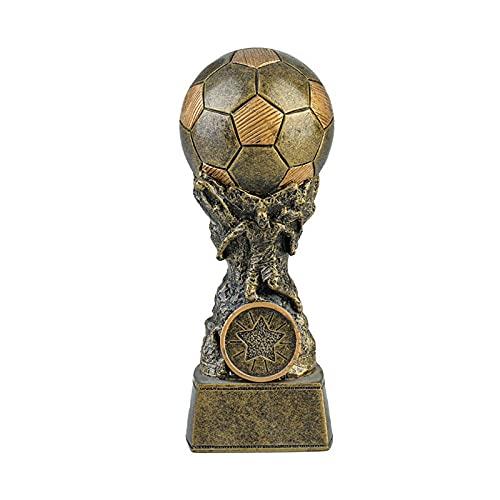 Esculturas Resina Trofeo de premio de fútbol en miniatura Vintage, adorno de decoración del hogar, estantería de oficina, muebles de exhibición, regalos de cumpleaños Estatuas Adornos Esculturas
