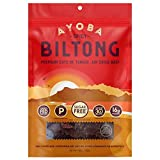Ayoba Spicy Biltong - Tender Beef Snack - Better than Jerky - Paleo and Keto Friendly - High Protein Steak Cuts - Made with Premium Meat - No Carbs, Gluten & Sugar Free - 4 Ounce