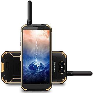 Blackview BV9500 PRO - Walkie-talkie&10000mAh batería IP68 / IP69K Impermeable Antipolvo Smartphone libre, Android 8.1, 5.7 pulgadas (18: 9) FHD + pantalla, 2.5GHz Octa Core 6GB + 128GB- Amarillo