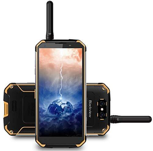 """Blackview BV9500pro, talkie-walkie et batterie 10000 mAh IP68 / IP69K Étanche / antichoc / anti-poussière Smartphone IP68 Android 8.1, FHD + écran de 5,7 """"(18: 9), 2,5 GHz Octa Core XHNHX HX Hm (chargement sans fil pris en charge), caméra arrière 6 MP, GPS / NFC / empreinte digitale - Jaune"""