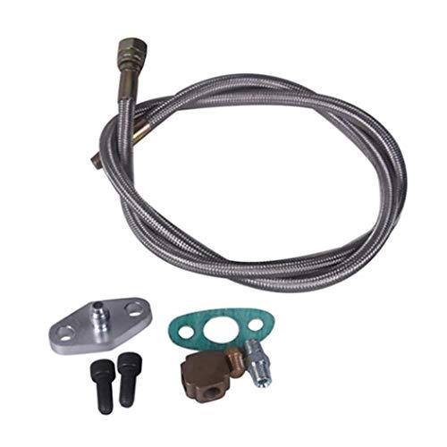 B Blesiya Emsemble de Conduite de Circulation de Huile Kit pour Turbocompresseur Universel