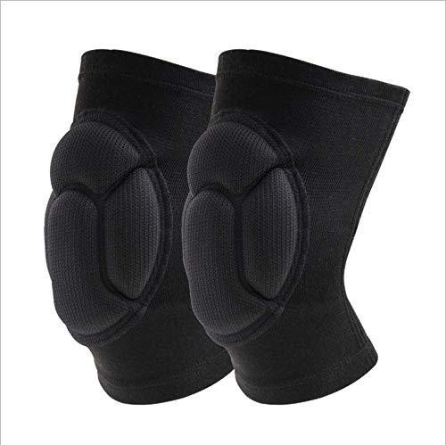 Wide.ling Knee Guard Knieschützer mit Kompression - Torwart Anti-Rutsch Knieschoner - Knie Protektor schwarz Blau SML Volleyball Knieschoner (Schwarz, L)