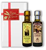 Papa Vince Olive Oil Extra Virgin + Balsamic Vinegar: EVOO First Cold...
