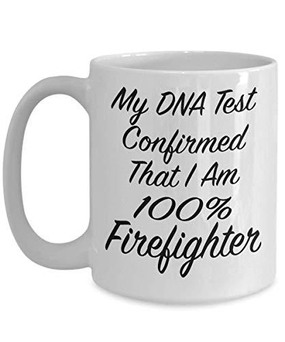N\A Il Mio Test del Dna ha confermato Che Sono Una Tazza Regalo Pompiere al 100% o Una Tazza da tè in Ceramica