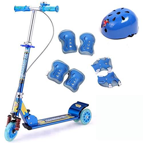 Yui Modelo a Seguir Scooters, Patinete Plegable For Niños, Niños Frenos Dobles De 3 Ruedas...