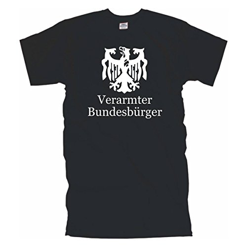 Verarmter Bundesbürger - lustig bedrucktes T-Shirt deutschem Pleitegeier, Funshirt witziges Geschenk, Baumwolle auch in Übergrößen (BL031) 6XL