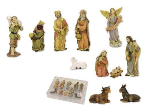 Krippenfigurenset, 11-tlg. Set, für 6cm Figuren