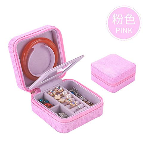 LIAOYLY Leather Casket for Jewelry Travel Case Ring Earrings Necklace Storage Jewelries Box New,nvshen no Mirror