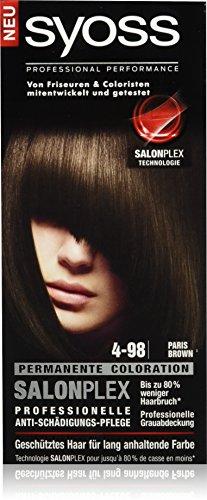 Syoss Haarfarbe, 4-98 Paris Brown, 3er Pack (3 x 115 ml)