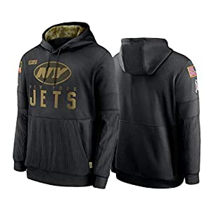 New_York_Jets Men's Hoodie 2020 Salute to Service Sideline Therma Pullover Hoodie XL