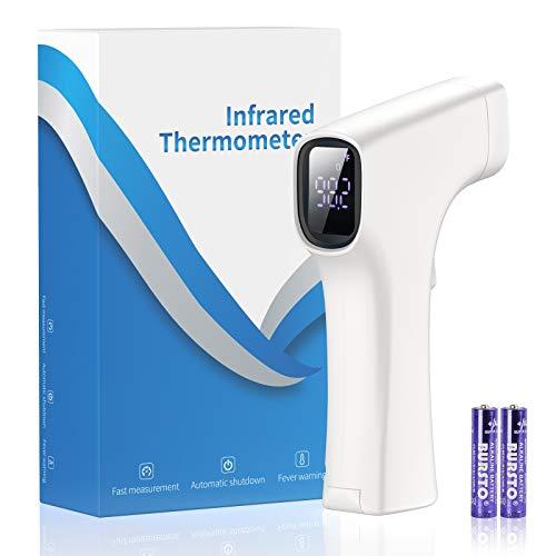 ZORNIK Fieberthermometer Baby, Fieberthermometer Kontaktlos für Babys und Erwachsene mit Alarm, Infrared Thermometer Temperaturmessgerät mit Fieberalarmsystem