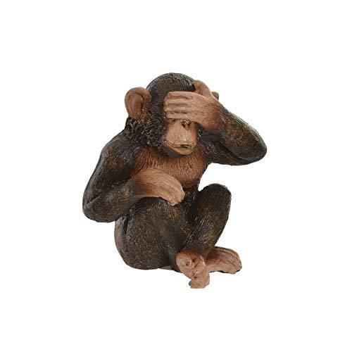 Figura Decorativa de Monos, Ver, oír y callar de Resina. Nikko. 4,50 x 6,00 cm - Hogar y más - A
