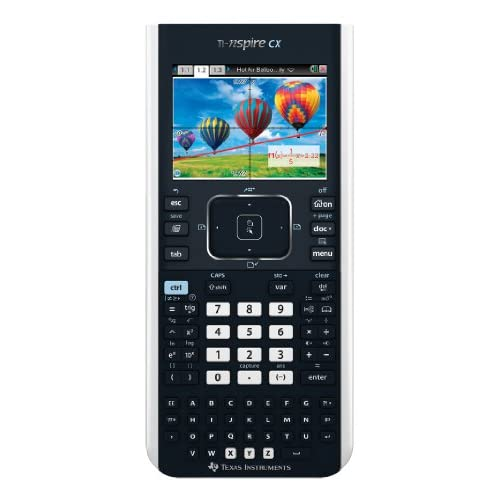 Texas Instruments TI-Nspire CX - Calcolatrice Grafica Scientifica Schermo Colori Con Touchpad