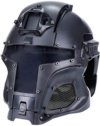 Hunting Explorer Tactical Military Ballistic Helmet Side Rail NVG Shroud Transfer Base Sports Army Combat Airsoft Paintball Full Face Mask Helmet Protective Gear