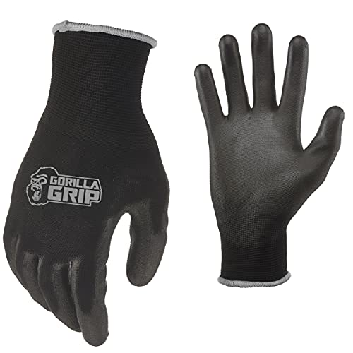 Gorilla Grip Slip Resistant All Purpose Work Gloves | Size: X-Large | Pack of 5 Pairs of Gloves
