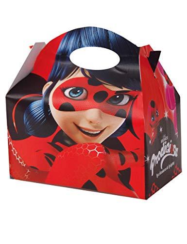 Ladybug–Schachtel Carton Befüllen mit Verzierungen von Lady Bug, Paket von 12Weihnachtsschachteln