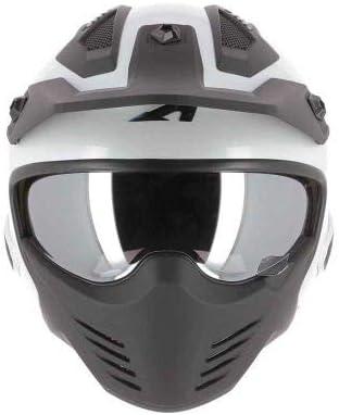 Astone Helmets Casque jet homologu/é Coque en polycarbonate Pearl white M Casque de moto jet Elektron Casque jet 4 en 1