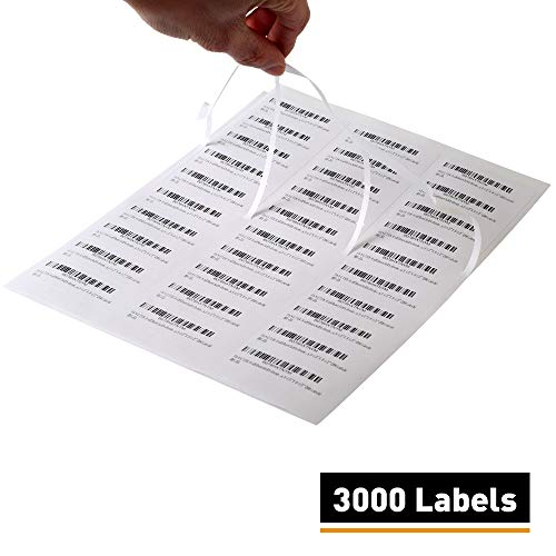 [100 Sheet, 3000 Labels] Address Mailing Shipping Amazon FBA Barcode Labels 1 x 2 5/8 30 Per Sheet for Laser/Inkjet Printer, 30-up