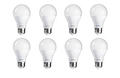 Philips LED A19 Frosted Light Bulb: 800-Lumen, 2700-Kelvin, 9.5-Watt (60-Watt Equivalent), E26 Base, Soft White, 8-Pack