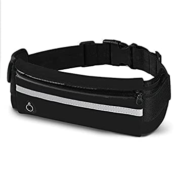 E Tronic Edge Waist Packs  Best Comfortable Running Belts for Workouts Hiking Workouts Traveling Money Belt - Unisex Fit for All Waist Sizes & All Phones  Black
