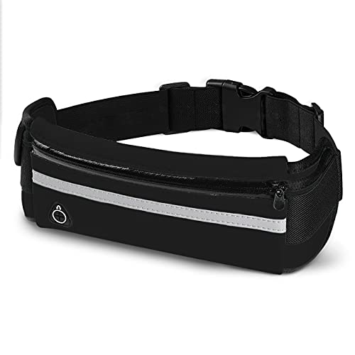 Running Belt Fanny Pack: Best Waist Packs Phone Holder Black Waistband Money Pouch Bag Top Gifts for Mom Presents for Women Men to Workout Fitness Hiking Jogging Dog Walking Runners Belts Cell Phones