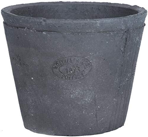 Esschert Design AT33 Aged Pot de fleurs rond en terre cuite Anthracite