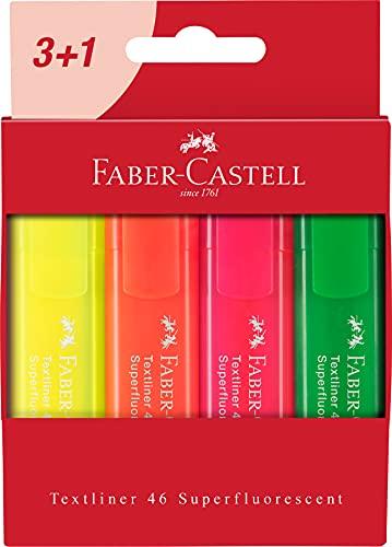 Faber-Castell Textliner 46 Superfluorescent - Cartera de 4