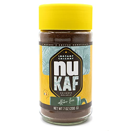 nuKAF By Gourmanity 7oz/200g Instant Chicory Powder From France, Kosher Instant Coffee Substitute, Chickory Powder For Coffee, Chicory Root Coffee Instant, All Natural 100% Chicory