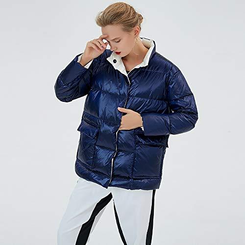 NZHK waterdichte jas, winter dames donsjack, parker jas, glanzend dikke warme korte jas