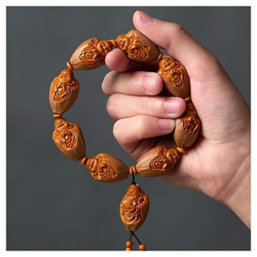 HQQ Fortuna Nuclear Talla Pulsera, de los Hombres de joyería de Mano, talladas a Mano, lo Que Significa Riqueza, de 18 × 27 mm